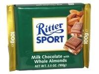 Ciocolata cu lapte si migdale intregi Ritter Sport