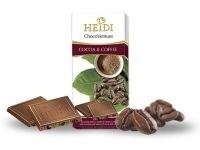 Ciocolata lapte cu bucati de cacao si cafea Heidi