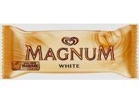 Inghetata vanilie cu glazura ciocolata alba White Magnum Algida