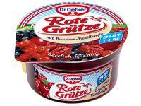 Rote Grutze (fructe zdrobite) si crema de vanilie Dr. Oetker